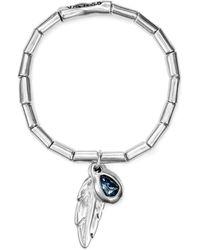 Uno De 50 - Plucked Feather & Crystal Bracelet - Lyst