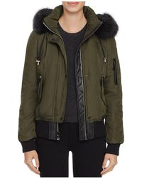 Vince Camuto - Faux Fur Trim Puffer Bomber Jacket - Lyst