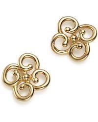 Bloomingdale's - 14k Yellow Gold Twist Clover Earrings - Lyst