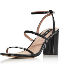 Aqua - Women's Maika Block-heel Leather Sandals - Lyst
