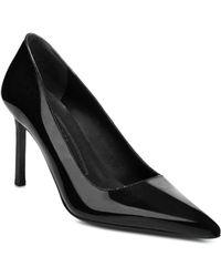 Via Spiga Women's Nikole Pointed Toe High - Heel Court Shoes - Black