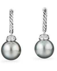 David Yurman - Solari Drop Earrings With Diamonds & Cultured Tahitian Gray Pearls - Lyst