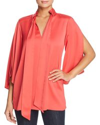 Kenneth Cole - Scarf-accented Draped Tunic - Lyst