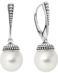 Lagos - Sterling Silver Luna Freshwater Cultured Pearl Drop Earrings - Lyst