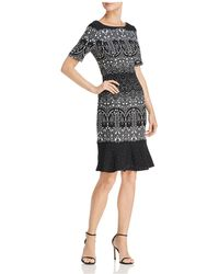 Adrianna Papell | Lace Print Dress | Lyst