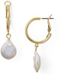 Aqua - Cultured Freshwater Pearl Drop Earrings - Lyst