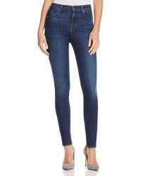 J Brand - Maria High Rise Skinny Jeans In Fleeting - Lyst