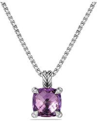 David Yurman - Châtelaine Pendant Necklace With Amethyst And Diamonds - Lyst