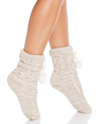 UGG - Pom Pom Fleece Socks - Lyst