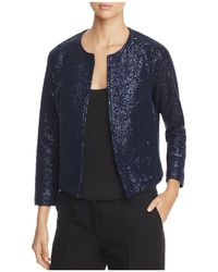 Three Dots - Open Front Sparkle Knit Jacket - Lyst