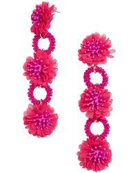 BaubleBar - Vernita Floral & Hoop Drop Earrings - Lyst