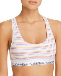 Calvin Klein - Modern Cotton Pride Bralette - Lyst
