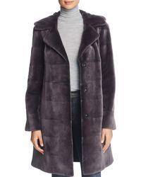 Maximilian - Reversible Hooded Sheared Mink Fur Coat - Lyst