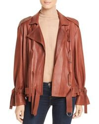 Kenneth Cole - Trapunto Leather Jacket - Lyst