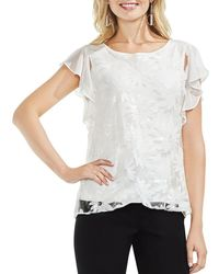 Vince Camuto - Sequin-floral Top - Lyst