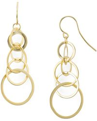 Aqua - Linked Circle Drop Earrings - Lyst