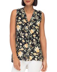 B Collection By Bobeau - Lily-print Pintuck Top - Lyst