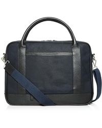 Bloomingdale's - Waxed Canvas Briefcase - Lyst