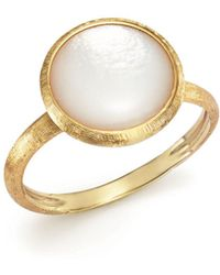 Marco Bicego - 18k Yellow Gold Jaipur Ring With Mother-of-pearl - Lyst