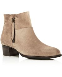 Paul Green - Women's Pandora Suede Block Heel Booties - Lyst
