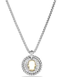 David Yurman - Cable Collectibles Hamsa Charm Necklace With Diamonds With 18k Gold - Lyst