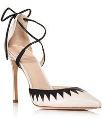 Pour La Victoire - Women's Cenya Leather Ankle Tie Court Shoes - Lyst