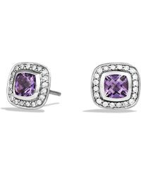 David Yurman - Petite Albion Earrings With Amethyst And Diamonds - Lyst