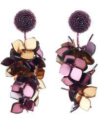 Oscar de la Renta - Falling Flower Clip-on Earrings - Lyst