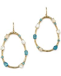 Ippolita - 18k Yellow Gold Rock Candy® Mixed Doublet Open Drop Earrings In Raindrop - Lyst