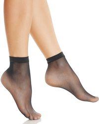 5a967da09 Fogal - Fishnet Ankle Socks - Lyst