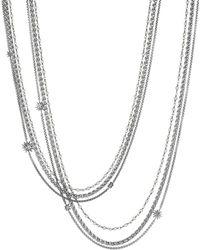 David Yurman - Starburst Pearl Chain Necklace - Lyst