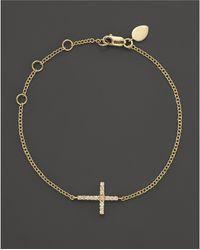 Meira T - 14k Yellow Gold Cross Bracelet - Lyst