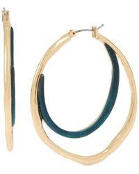 Robert Lee Morris - Sculptural Double Hoop Earrings - Lyst