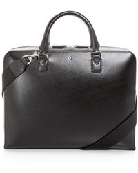 Montblanc - Meisterstück Ultra Slim Leather Briefcase - Lyst