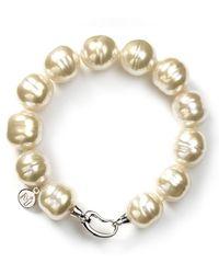 Majorica - Baroque Simulated Pearl Bracelet - Lyst