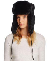 Crown Cap - Rabbit Fur Russian Aviator Hat - Lyst