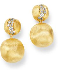 Marco Bicego - 18k Yellow Gold Africa Constellation Diamond Drop Earrings - Lyst
