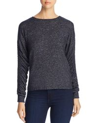 Coin - Brushed Ruched-sleeve Sweater - Lyst