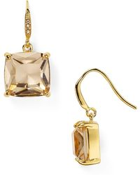 Carolee - Cushion Drop Earrings - Lyst