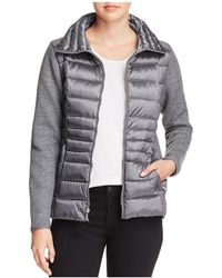 Vince Camuto - Lightweight Down & Knit Jacket - Lyst