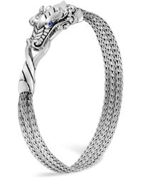 John Hardy - Sterling Silver Legends Naga Multi - Chain Bracelet With Sapphire Eyes - Lyst