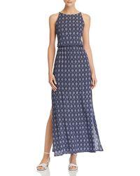 Aqua - Tile Print Maxi Dress - Lyst