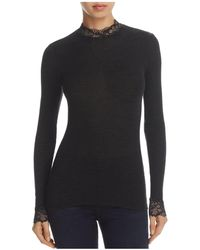 Hanro - Lillian Lace Turtleneck Top - Lyst