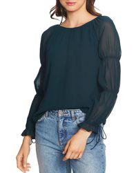 1.STATE - Smocked-sleeve Blouse - Lyst