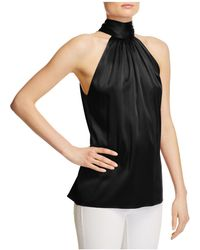 Ramy Brook - Paige Tie Neck Silk Top - Lyst