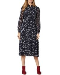L.K.Bennett - Filia Star Print Silk Flared Dress - Lyst