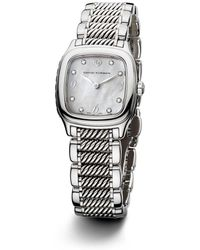 David Yurman - Thoroughbred 25mm Stainless Steel Quartz With Diamond Markers - Lyst