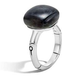 John Hardy - Batu Bamboo Silver Ring With Labradorite - Lyst