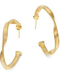 Marco Bicego - 18k Yellow Gold Hoop Earrings - Lyst