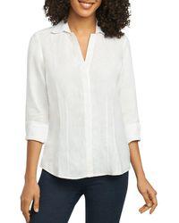 Foxcroft - Fitted Three Quarter Sleeve Shirt - Lyst